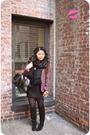 Pink-ellen-tracy-blazer-black-forever-21-dress-black-nine-west-boots-black
