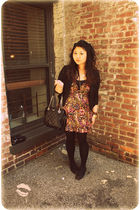red Betsey Johnson dress - black Forever 21 dress - black Forever 21 jacket - bl