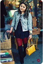 jumper Target x Anna sui dress - tweed Ellen Tracy jacket - kate spade bag