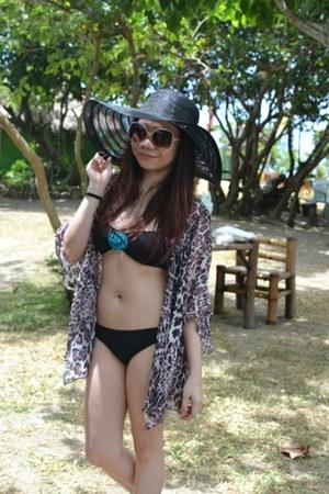black straw sm accessories hat - camel square Forever 21 sunglasses