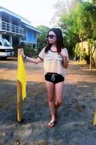 black square Forever 21 sunglasses - black NafNaf swimwear