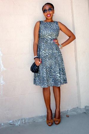leopard print Zara dress - peep toe Zara heels