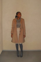 lace-up Deena & Ozzy boots - wool H&M coat - knitted sweater project sweater - a