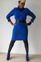 vintage dress - LK Bennett belt - Jonathan Aston tights - Delphine Murat tights