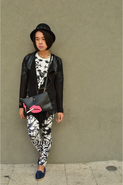 tattoo KTZ leggings - leopard slip-on Step Rite shoes