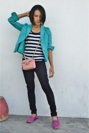 Chanel bag - River Island shoes - black skinny Forever 21 jeans
