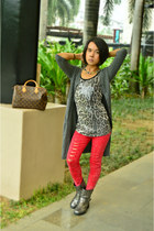 Terranova boots - red distressed Fudge Rock jeans - speedy 30 Louis Vuitton bag