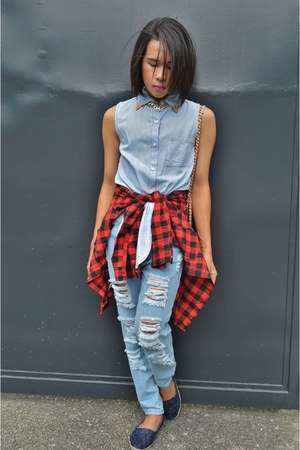 chambray Copper top - Step Rite shoes - Forever 21 jeans - Teen Idle shirt