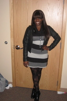 black JouJou jacket - black TJ Maxx leggings - black Forever 21 boots