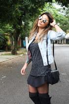 Zara boots - Zara jacket - lupo tights - H&M purse - Riachuelo skirt
