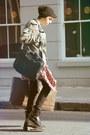 Dr-martens-boots-moschino-hat-topman-jacket-vintage-shirt-idunno-bag