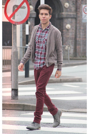 Topman boots - Topman shirt - Topman pants - Topman cardigan