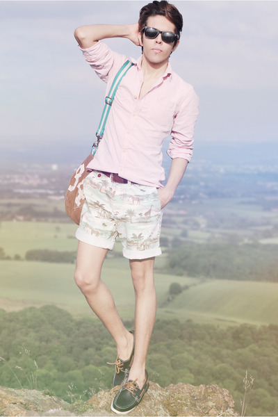 Topman shorts - Topman shoes - River Island shirt - Converse bag