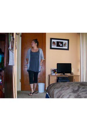 Walmart leggings - The Closet cardigan - Forever 21 dress