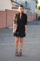 Bebe dress - Mango blazer - Forever 21 shoes