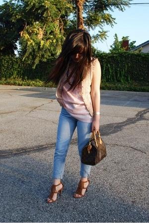 H&M dress - free people top - calvin klein jeans - Louis Vuitton purse - Steve M