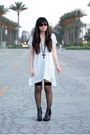 White-h-m-dress-black-forever-21-sunglasses-black-american-apparel-socks-b