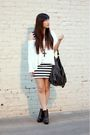 White-cotton-on-dress-white-cotton-on-top-black-h-m-purse-black-sam-edelma