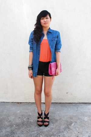H&amp;M skirt - H&amp;M shirt - forever 21 shorts - Barneys New York accessories - Carlo
