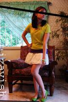 Guess shirt - Zara top - Guess skirt - Melissa shoes
