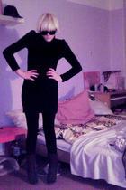 black H&M dress - gray Deichmann shoes - black Ray Ban glasses