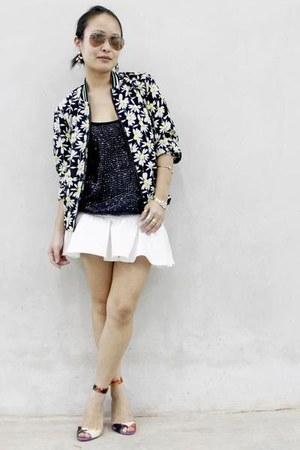 white Love Bonito skirt - black Femme Elegante jacket - orange asos heels