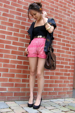 vintage bag - H&M shorts - vintage belt - Primark cardigan