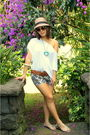 White-topshop-top-blue-diy-shorts-brown-linea-pelle-belt-white-christian-d