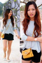 Nine West bag - Forever 21 shorts - Michael Kors watch - Yaan blouse