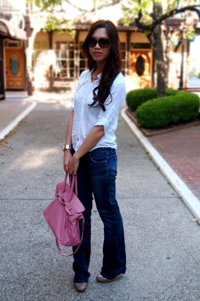 bubble gum Marco Tagliaferri bag - blue Kitson LA jeans