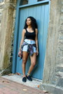 Black-mossimo-shoes-light-blue-high-waisted-vintage-shorts