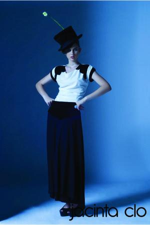 cream jacinta clo blouse - black jacinta clo skirt