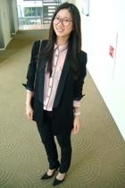 Nine West shoes - Zara blazer - Zara blouse