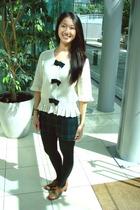 asos blouse - shorts