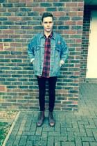vintage Dr Martens boots - black skinny denim River Island jeans