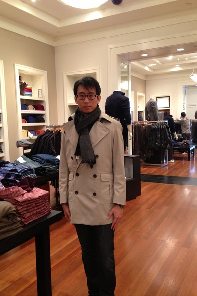 eggshell banana republic coat