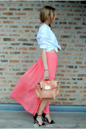 dress - classic bag - short heels heels