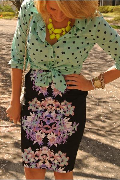polka dot Target blouse