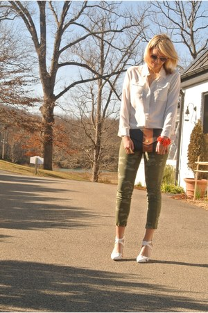 camo Gap pants - strappy tildon shoes