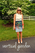 florals Anthropologie skirt