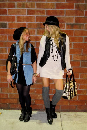 long denim Top Shop vest - 31 phillip lim vest - Michael Kors boots