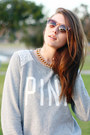 Silver-eclectic-crew-victorias-secret-pink-sweater-bronze-madewell-sunglasses