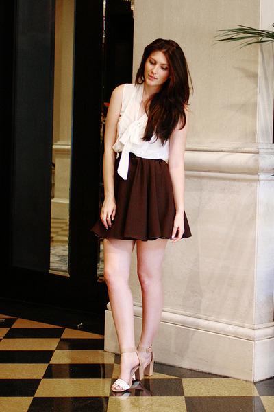 brown Self Sewn skirt