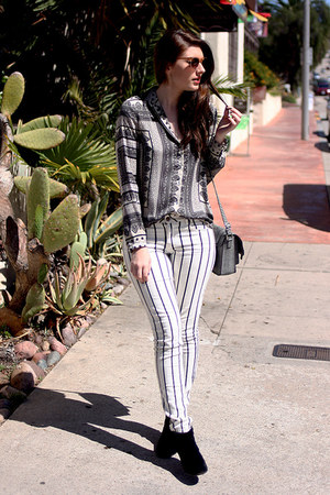 black Target shoes - heather gray Target purse - heather gray Zara blouse