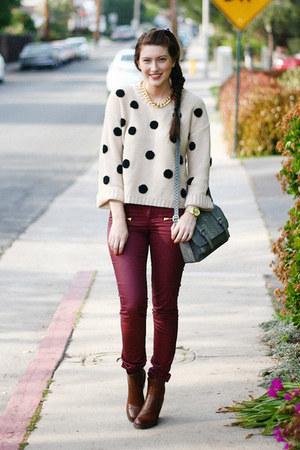 heather gray Target purse - brick red asos pants