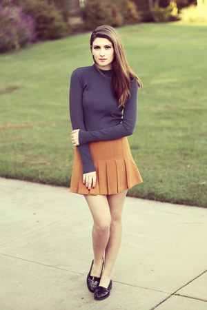 burnt orange Forever 21 skirt
