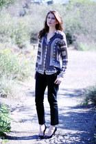 silver Zara blouse - black Target pants
