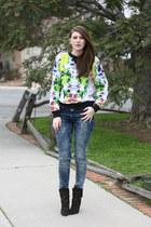ivory Prabal Gurung x Target sweater - blue asos jeans - black Zara heels