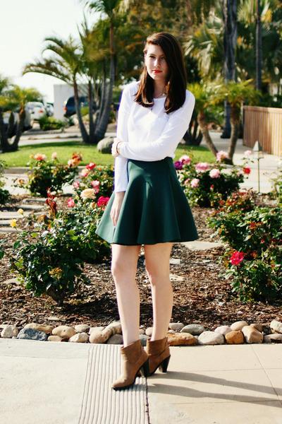 dark green Chicwish skirt