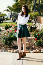 dark green Chicwish skirt